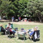 Relaxing in the park at Days Bay.