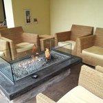 Fire Pit Lounge near Lobby Door