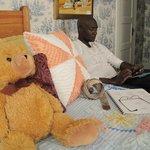 Teddy keeps an eye on Stan.