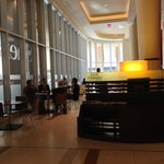 Internet cafe in the lobby