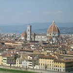 Florence from observation area - view from the bike ride