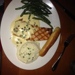 Grilled salmon. Piccata style.