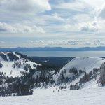Stunning views of Lake Tahoe from top of summit lift at Alpine Meadows