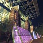 Phoenix Convention Center exterior at night-- gorgeous!