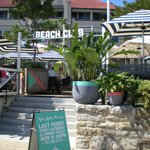 Beach Club just a few meters from the dock