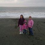 cousins enjoying the beach