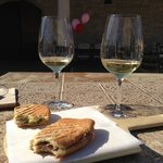 Paninis and wine!