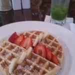 Belgian Waffle, fresh juice very refreshing