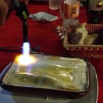 Using a burner to carmelize the cheese on my canneloni
