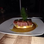 The tuna with soy butter