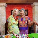 Toni and hostes, Conchita after breafast at La Casa de Mis Recuerdos, Oaxaca