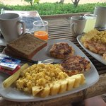 The breakfast (150 bht)