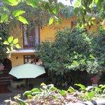 Courtyard at La Casa de Mis Recuerdos, Oaxaca