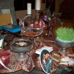 traditional Haft Sin table (7 S table)for celeberating new year in Iran