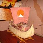 """Уменьшеная копия лодки """"Тигрис"""""""