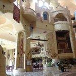 La hall de l'hotel et le style arabe