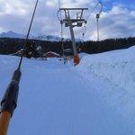 On the skilift (teleski) back to the hotel