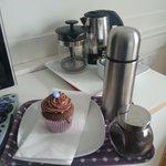 welcoming coffee and cake!