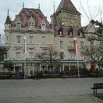 Photo de l'hôtel depuis le lac