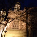 Budapest - synagogue by night
