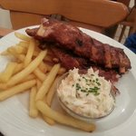 Jack Daniels Ribs with Fries and Coleslaw