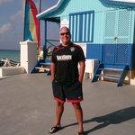 at the beach hut