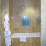 The bath tub area