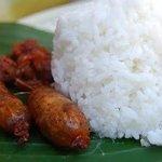 longganisang lucban with rice