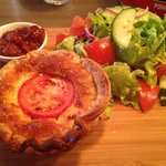 Quiche of the day; bacon, egg and tomato!!