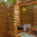 Outdoor bathroooms at the Tented Suites