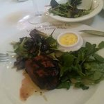 steak and expensive green salad