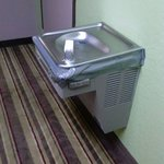 Convenient Hallway Water Fountains full of DUCT TAPE.