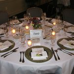 The table setting.