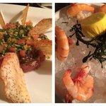 Yummy tartar and local shrimp