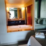 Bathroom can be open concept or closed