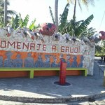 Small section of the mosaic village down the road