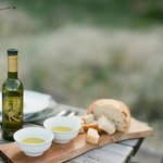 Door County Olive Oil with bread for dipping!!