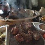 Steak on a stone - delicious!!!!