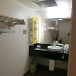 Rapid City Motel 6 - sink area and storage area