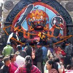 Colorful shrine in Durbar Square