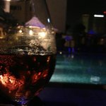 Balmy evening nightcap at the Pool