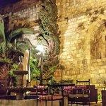 Gartenbereich Nafoula Restaurant