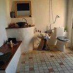 Badbereich des Souterrain-Zimmers