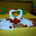 Decoração romântica do quarto