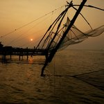 The beautiful Chinese Fishing Nets of Ft. Cochin.  I walked from the hotel.