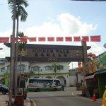 Jonker street arc near the bus stop going back to Melaka Sentral