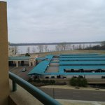 View of Mississippi river from balcony