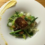 seared duck liver salad
