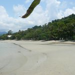 fin strand kristallklart vatten
