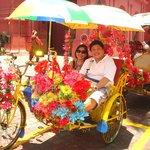 Becak ride around town